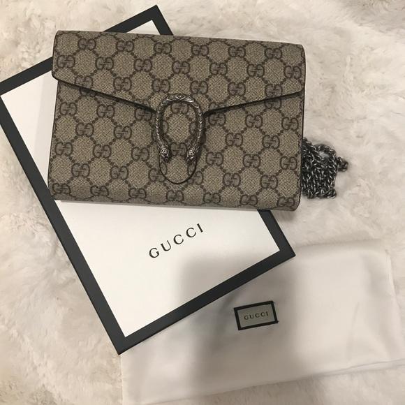 14bb27ff0c6 Gucci Handbags - Gucci Dionysus Crossbody Bag Woc GG Supreme